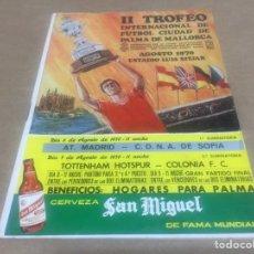 Coleccionismo deportivo: TOTTENHAM COLONIA AT MADRID CDNA SOFÍA PROGRAMA CIUDAD PALMA 1970. Lote 201709185