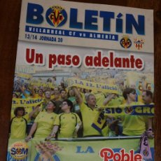 Coleccionismo deportivo: REVISTA BOLETIN VILLARREAL CF VS CD ALMERIA. JORNADA 20. 2013/2014.8 PAG. VER FOTOS. Lote 201725321