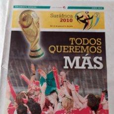 Coleccionismo deportivo: SUPLEMENTO DIARIO DE CÁDIZ ESPECIAL MUNDIAL SUDÁFRICA 2010 - ESPAÑA - LA ROJA. Lote 202645440