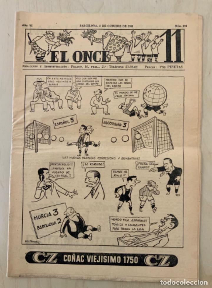 REVISTA (PERIÓDICO) EL ONCE N 298 4 DE OCTUBRE DE 1950 (Coleccionismo Deportivo - Revistas y Periódicos - otros Fútbol)