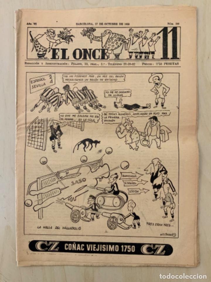 REVISTA (PERIÓDICO) EL ONCE N 300 17 DE OCTUBRE DE 1950 (Coleccionismo Deportivo - Revistas y Periódicos - otros Fútbol)