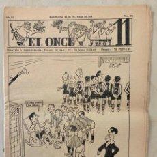 Coleccionismo deportivo: REVISTA (PERIÓDICO) EL ONCE N 301 24 DE OCTUBRE DE 1950. Lote 203293806