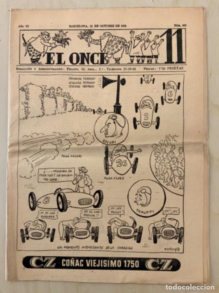 REVISTA (PERIÓDICO) EL ONCE N 302 31 DE OCTUBRE DE 1950 (Coleccionismo Deportivo - Revistas y Periódicos - otros Fútbol)