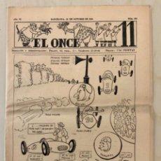 Coleccionismo deportivo: REVISTA (PERIÓDICO) EL ONCE N 302 31 DE OCTUBRE DE 1950. Lote 203293878