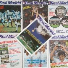 Coleccionismo deportivo: LOTE REVISTA REAL MADRID BOLETIN OFICIAL - AÑO 1985 COMPLETO - 11 REVISTAS DEL 416 AL 422. Lote 203427180