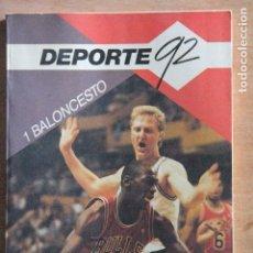 Coleccionismo deportivo: DEPORTE 92 VALONCESTO. Lote 203504570