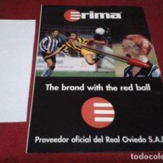 Coleccionismo deportivo: PUBLICIDAD HOJA REVISTA A4 ( RIMA ) OFICIAL DEL REAL OVIEDO. Lote 203822563