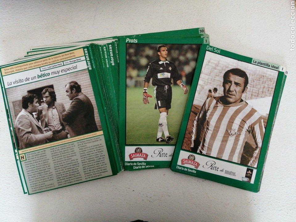 MAGNÍFICO LOTE REAL BETIS B. 94 FICHAS DE JUGADORES Y EQUIPO COLECCIÓN DIARIO DE SEVILLA AÑOS 90.VER (Coleccionismo Deportivo - Revistas y Periódicos - otros Fútbol)