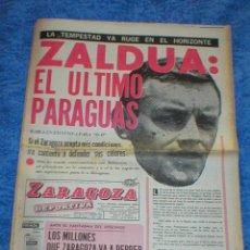 Coleccionismo deportivo: PERIÓDICO REVISTA ZARAGOZA DEPORTIVA 9 NOVIEMBRE 1970 CON SUPLEMENTO ORIGINAL REAL ZARAGOZA ZALDUA. Lote 204615272