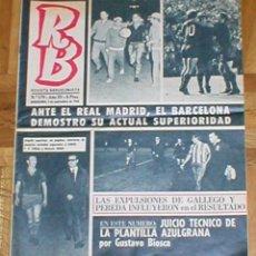 Coleccionismo deportivo: LOTE 4 PERIODICOS REVISTAS BARÇA RB BARCELONISTA FCBARCELONA 1968-70 LIGA FUTBOL COPA RECOPA+REGALOS. Lote 204718760