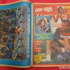 Coleccionismo deportivo: PORTUGAL. JOURNAL DEPORTIVO OFF-SIDE. VOLUMEN ENCUADERNADO NºS 31 A 40 (ABRIL-JULIO 1983).. Lote 204793085