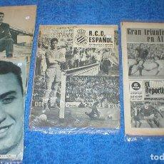 Coleccionismo deportivo: LOTE 4 REVISTAS DEPORTIVAS DICEN RCD ESPANYOL ESPAÑOL MUNDO DEPORTIVO VINTAGE 1957-1975 +REGALOS VER. Lote 204827671