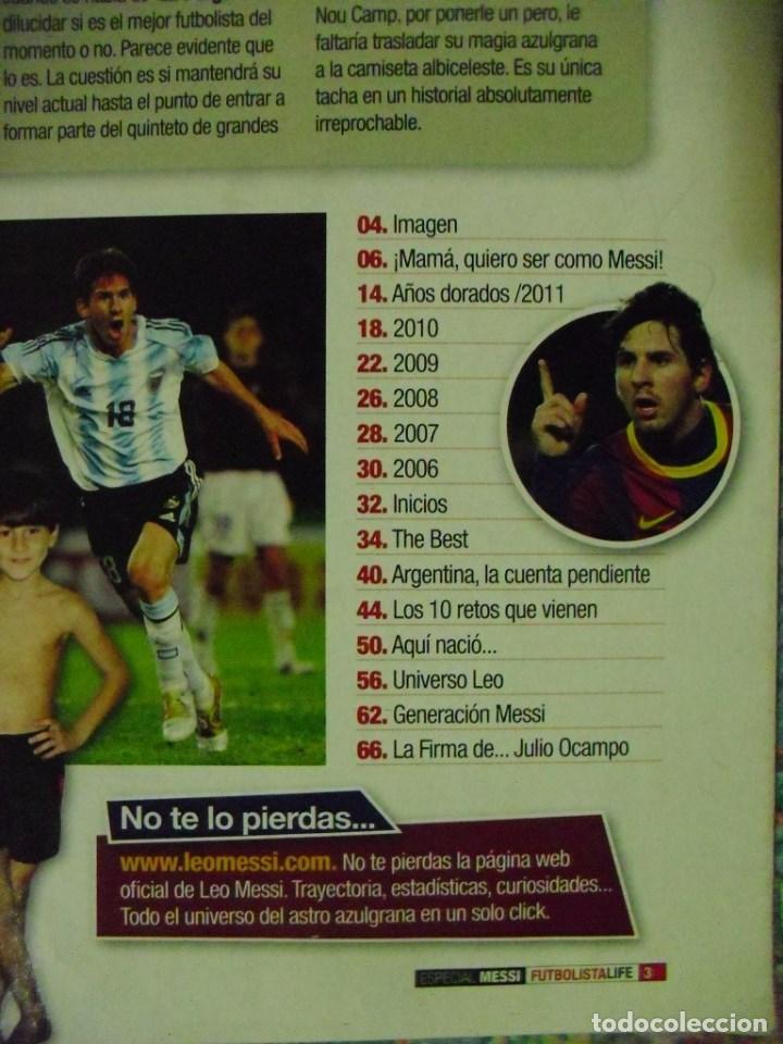 Coleccionismo deportivo: Revista de fútbol Futbolista - Especial Leo Messi (2012) - Foto 3 - 204847453