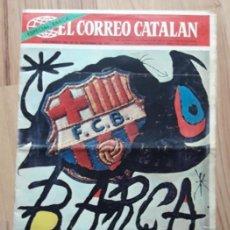 Collezionismo sportivo: EL CORREO CATALAN. CARTEL MIRO. BARÇA 75 ANIVERSARIO 29/11/1974.F.C BARCELONA. POSTER EQUIPO. FUTBOL. Lote 204993813
