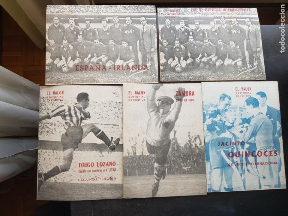 LOTE 5 REVISTAS DEPORTIVAS NUEVAS 1953 DE FÚTBOL EL BALÓN ORIGINALES ZAMORA QUINCOCES (Coleccionismo Deportivo - Revistas y Periódicos - otros Fútbol)