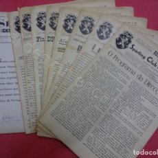 Coleccionismo deportivo: BOLETIM DO SPORTING CLUB DE PORTUGAL LOTE 9 BOLETINES AÑOS 40S. FUTEBOL PORTUGUES. Lote 205896860