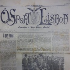 Coleccionismo deportivo: SEMANAL SPORT LISBOA E BEMFICA. (1913-1915) LOTE 59 EJEMPLARES ENTRE Nº 1 Y 79. FUTEBOL PORTUGUES. Lote 205902152