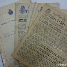 Coleccionismo deportivo: FUTEBOL CLUBE DO PORTO. LOTE 8 BOLETIM AÑO 1. Nº 1 AL Nº 9 (FALTA Nº 8) + RELATORIO CONTAS 1957. Lote 206426870