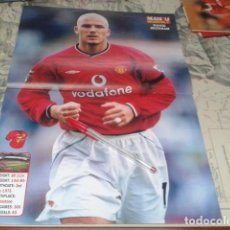 Coleccionismo deportivo: POSTER DOBLE MANCHESTER UNITED ( DAVID BECKHAM + RYAN GIGGS ) MONTHLY. Lote 206586123