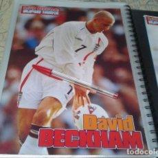 Coleccionismo deportivo: POSTER SELECCION INGLESA / MANCHESTER UNITED ( DAVID BECKHAM - SUPER HEROE ) A4. Lote 206586760