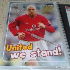 Coleccionismo deportivo: POSTER MANCHESTER UNITED ( DAVID BECKHAM - WE STAND ) A4. Lote 206586901
