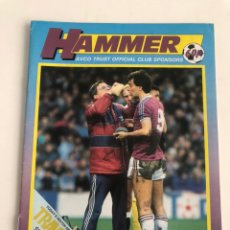 Coleccionismo deportivo: HAMMER OFFICIAL PROGRAMME WEST HAM UNITED V SOUTHAMPTON 86-87 PROGRAMA OFICIAL 6/12/1986. Lote 206765415