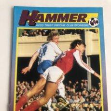 Coleccionismo deportivo: HAMMER OFFICIAL PROGRAMME WEST HAM UNITED V TOTTENHAM 86-87 PROGRAMA OFICIAL 20/4/1987 WHUFC. Lote 206766032