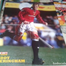 Coleccionismo deportivo: POSTER DOBLE MANCHESTER UNITED ( TEDDY SHERINGHAM + ANDY COLE ) MAGAZINE. Lote 206786901