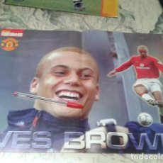 Coleccionismo deportivo: POSTER DOBLE MANCHESTER UNITED ( SILVESTRE + WES BROWN ) GLORY GLORY. Lote 206787071