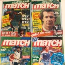 Collectionnisme sportif: LOTE 4 REVISTAS FUTBOL INGLES MATCH 80-81 MAGAZINE FOOTBALL PREMIER LEAGUE 1980 1981 BRITISH ENGLISH. Lote 206799503