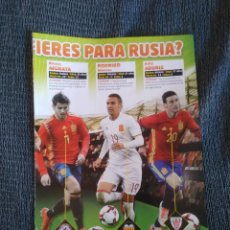 Coleccionismo deportivo: DELANTEROS ESPAÑA: MORATA, RODRIGO MORENO, ADURIZ + CAVANI URUGUAY - REPORTAJE 2 PÁG REVISTA JUGÓN. Lote 207038778