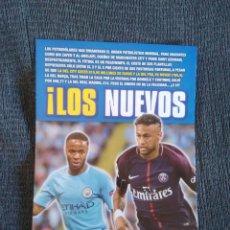 Coleccionismo deportivo: TIPO PÓSTER STERLING MANCHESTER CITY Y NEYMAR PSG + LUIS SUÁREZ ADURIZ Y GRIEZMANN REVISTA JUGON. Lote 207042505