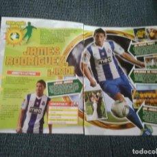 Coleccionismo deportivo: JAMES RODRÍGUEZ OPORTO PÓSTER 1 PÁG REVISTA REPORTAJE DATOS MEGA JUGÓN WORLD. BOCA JUNIORS DEPORTIVO. Lote 207138913