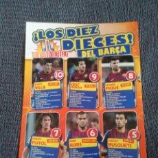 Coleccionismo deportivo: VILLA CESC PIQUÉ PUYOL DANI ALVES BUSQUETS BARCELONA BARÇA - REPORTAJE 1 PÁG REVISTA JUGÓN CON DATOS. Lote 207139495