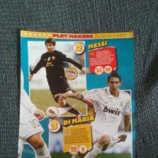 Coleccionismo deportivo: MESSI DANI ALVES BARCELONA DI MARÍA CRISTIANO RONALDO REAL MADRID NAVAS SEVILLA 2 PÁG REVISTA JUGÓN. Lote 207276162