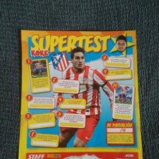 Coleccionismo deportivo: KOKE ATLÉTICO DE MADRID SUPERTEST - TIPO PÓSTER 1 PÁGINA REVISTA JUGÓN CON PREGUNTAS QUIZ. Lote 207278012