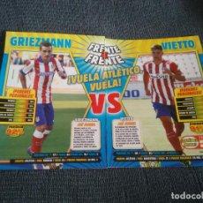 Coleccionismo deportivo: GRIEZMANN VS VIETTO ATLÉTICO MADRID FRENTE A FRENTE DOBLE PÓSTER 1 PÁG REVISTA JUGÓN + CARAS NUEVAS. Lote 207281367