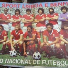 Coleccionismo deportivo: S.L. BENFICA. CAMPEAO NACIONAL DE FUTEBOL 1975-76. POSTER GIGANTE. Lote 207286521