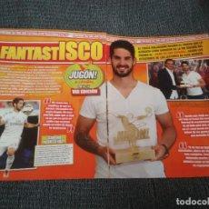 Coleccionismo deportivo: ISCO REAL MADRID TIPO PÓSTER + REPORTAJE 3 PÁG REVISTA JUGÓN. INIESTA BARCELONA DIEGO COSTA ATLÉTICO. Lote 207288060