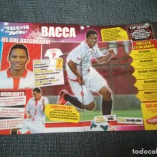 Coleccionismo deportivo: BACCA SEVILLA - PÓSTER 1 PÁGINA REVISTA + REPORTAJE LA GALAXIA DEL JUGÓN + PÓSTER CRISTIANO RONALDO. Lote 207301488