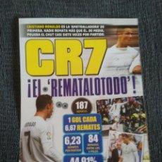 Coleccionismo deportivo: CRISTIANO RONALDO REAL MADRID TIPO PÓSTER 1 PÁGINA REVISTA JUGÓN CON DATOS. Lote 207305605