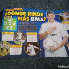 Coleccionismo deportivo: GARETH BALE REAL MADRID TIPO POSTER REPORTAJE REVISTA JUGÓN + PÓSTER DIEGO COSTA ATLÉTICO DE MADRID. Lote 207306673