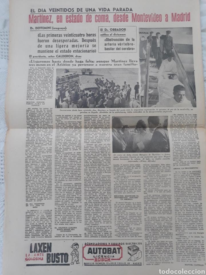 Coleccionismo deportivo: DIARIO MARCA 3-2- 1964 . MARTINEZ , AT DE MADRID 22 DÍAS EN ESTADO DE COMA LLEGA A MADRID . - Foto 2 - 207471488