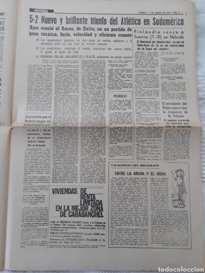 Coleccionismo deportivo: DIARIO MARCA 3-2- 1964 . MARTINEZ , AT DE MADRID 22 DÍAS EN ESTADO DE COMA LLEGA A MADRID . - Foto 3 - 207471488