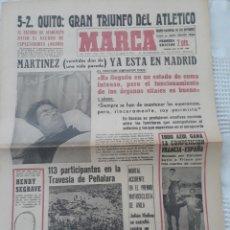 Coleccionismo deportivo: DIARIO MARCA 3-2- 1964 . MARTINEZ , AT DE MADRID 22 DÍAS EN ESTADO DE COMA LLEGA A MADRID .. Lote 207471488