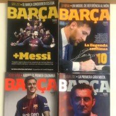 Coleccionismo deportivo: LOTE PACK 4 REVISTAS BARÇA NUMEROS 88 90 91 94 REVISTA OFICIAL FC BARCELONA. Lote 207594987