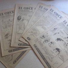 Collectionnisme sportif: EL ONCE. REVISTA DE FÚTBOL. BARCELONA 1954. LOTE DE 6 NÚMEROS. Lote 208050362