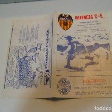 Coleccionismo deportivo: PROGRAMA PARTIDO DE FUTBOL VALENCIA CLUB DE FUTBOL REAL MADRID VALENCIA 24 ENERO 1984. Lote 208106782