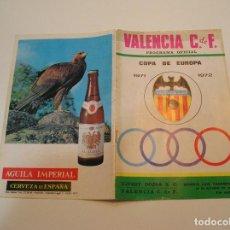 Coleccionismo deportivo: FUTBOL - PROGRAMA OFICIAL COPA DE EUROPA - OCTUBRE 1971 . VALENCIA C.F.- UJPEST DOZSA S.C. HUNGRIA.. Lote 208107868