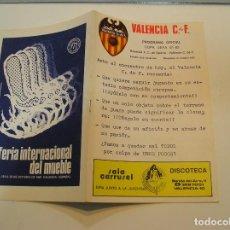 Coleccionismo deportivo: PROGRAMA REVISTA FUTBOL , VALENCIA CF BOAVISTA OPORTO , COPA UEFA 81 82 , ORIGINAL ,. Lote 208108013